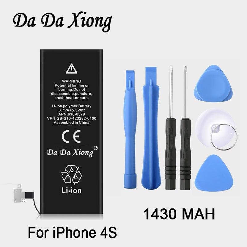 100% Original Brand Da Da Xiong 1430mAh Genuine Li-ion Mobile Phone Accessory Replacement Battery Pack For IPhone 4s