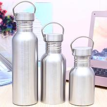 350/500/750ml Portable Travel Vacuum Water Bottle Large Capacity Stainless Steel Insulated Water Bottle Outdoor Cycling Kettle russian large capacity insulated stainless steel bottle outdoor portable travel kettle car kettle