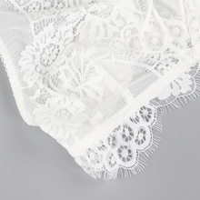 Missomo White Sexy Lace Bra Women Hollow Out Mesh Semi-Sheer Front Straps Underwears Lady Breathable Soft Female Bralettes