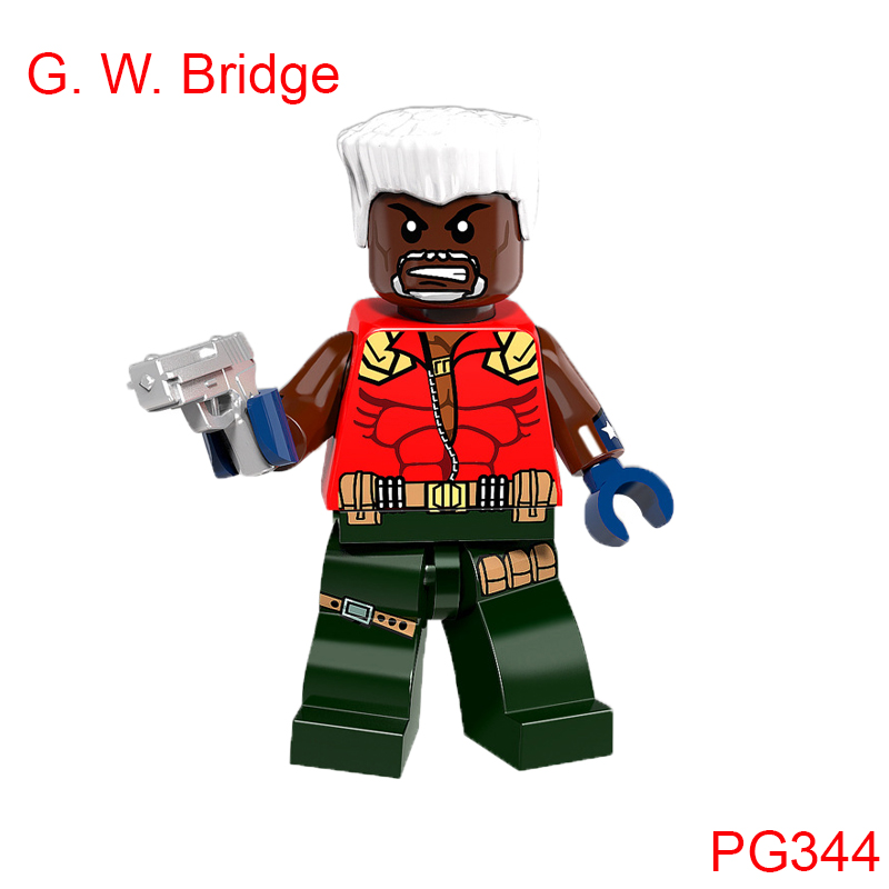 Single Sale Building Block G. W. Bridge Action Figure Super Heroes Star Wars Mini Doll Christmas Toys For Children Pg344