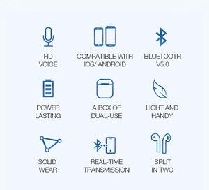 Image 3 - TWS 5.0 블루투스 이어폰 IPX5 방수 헤드셋 наушники беспроводные Nouveau 무선 헤드폰 블루투스 이어폰 V20