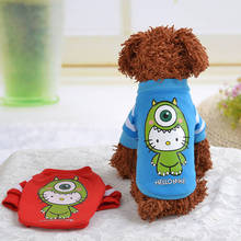 Pet Dog Clothes Small Dog Coat Jacket Cotton  Cartoon Dogs Cat Puppy Vest T Shirt Clothing Chihuahua Teddy Apparel XS/S/M/L/XL