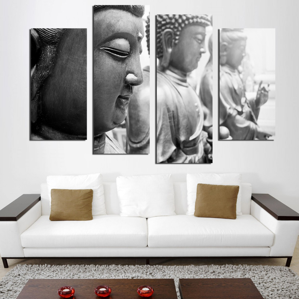 CLSTROSE Hot Sale Time limited Grey Color For Buddha Modern Wall Art ...