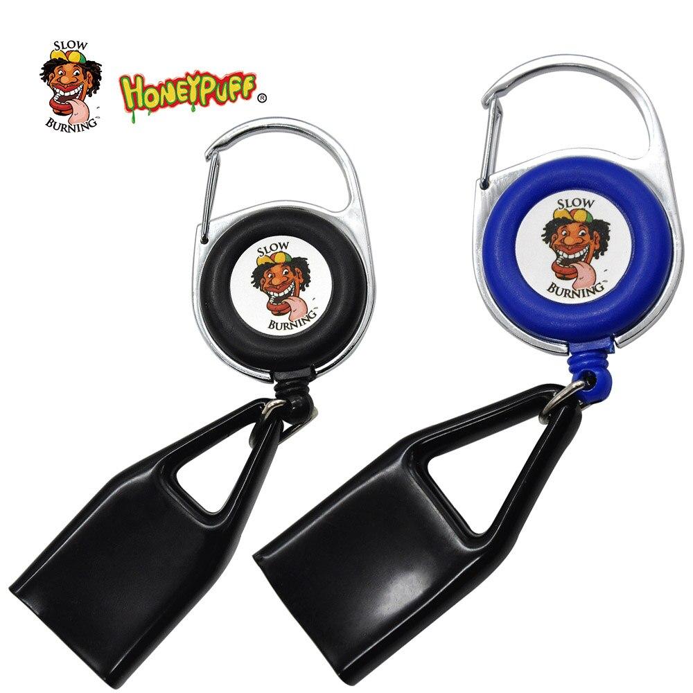 2 pcs HoneyPuff Sticker Lighter Cover Safe Stash Clip Retractable Keychain Lighter Holder