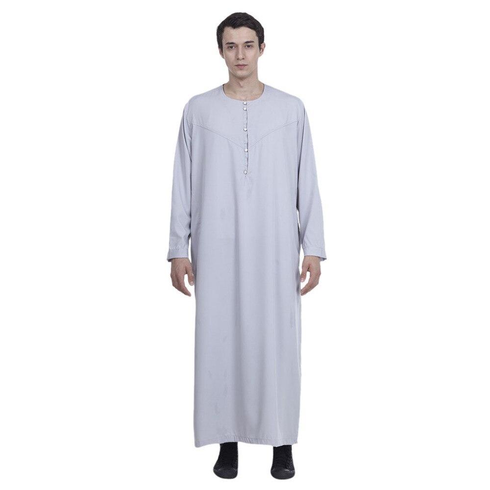 b1f295f4b Ropa de hombre musulmán árabe saudí manga larga Thobe islámico Jubba Thobe  hombre Kaftan Thobe ...