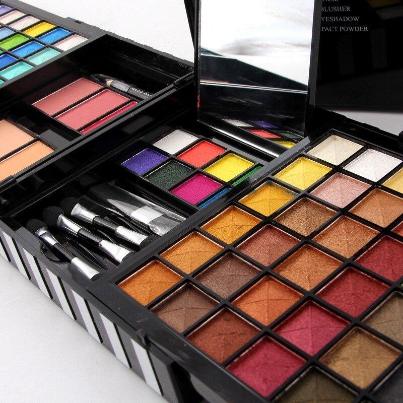 MISS ROSE Women Beauty Natural 80 Color Eyeshadow Palette+3 Blush+2 Powder+1 Eyebrow Pencil Makeup Cosmetics Palette Set