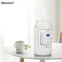 Portable Mini Electric Kettle Water Travel Camping Water Boiler Automatic Heating Travel Boiler Coffee Milk Stainless Steel Cup