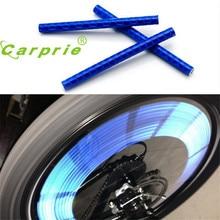 AUTO 12pcs Bicycle Wheel Reflective Strip Clip Tube Car Tire Valve Caps Auto Truck Motocycle Bike Spoke Reflector jan18