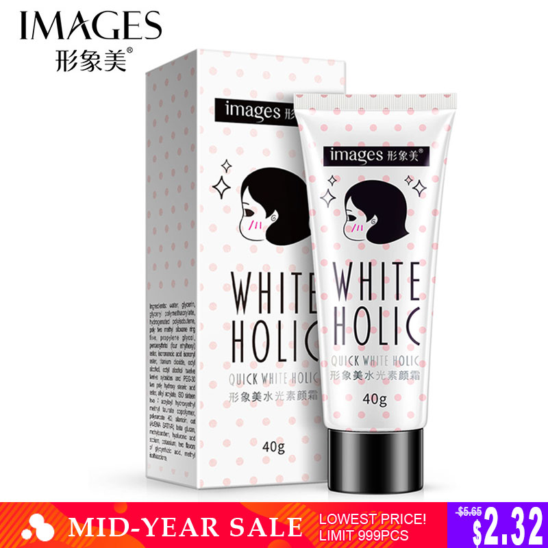 Images Quick White Cream Holic Long Lasting Moisturizer Whitening Skin Oil Control Cover Pores Acne Nude MakeUp Base Foundation