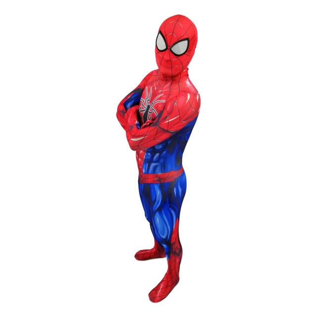 Fancy Adults Kids PS4 Spider Spiderman Mascot Costume Spandex Zentai Bodysuits Jumpsuits Male Spiderman Halloween Costumes