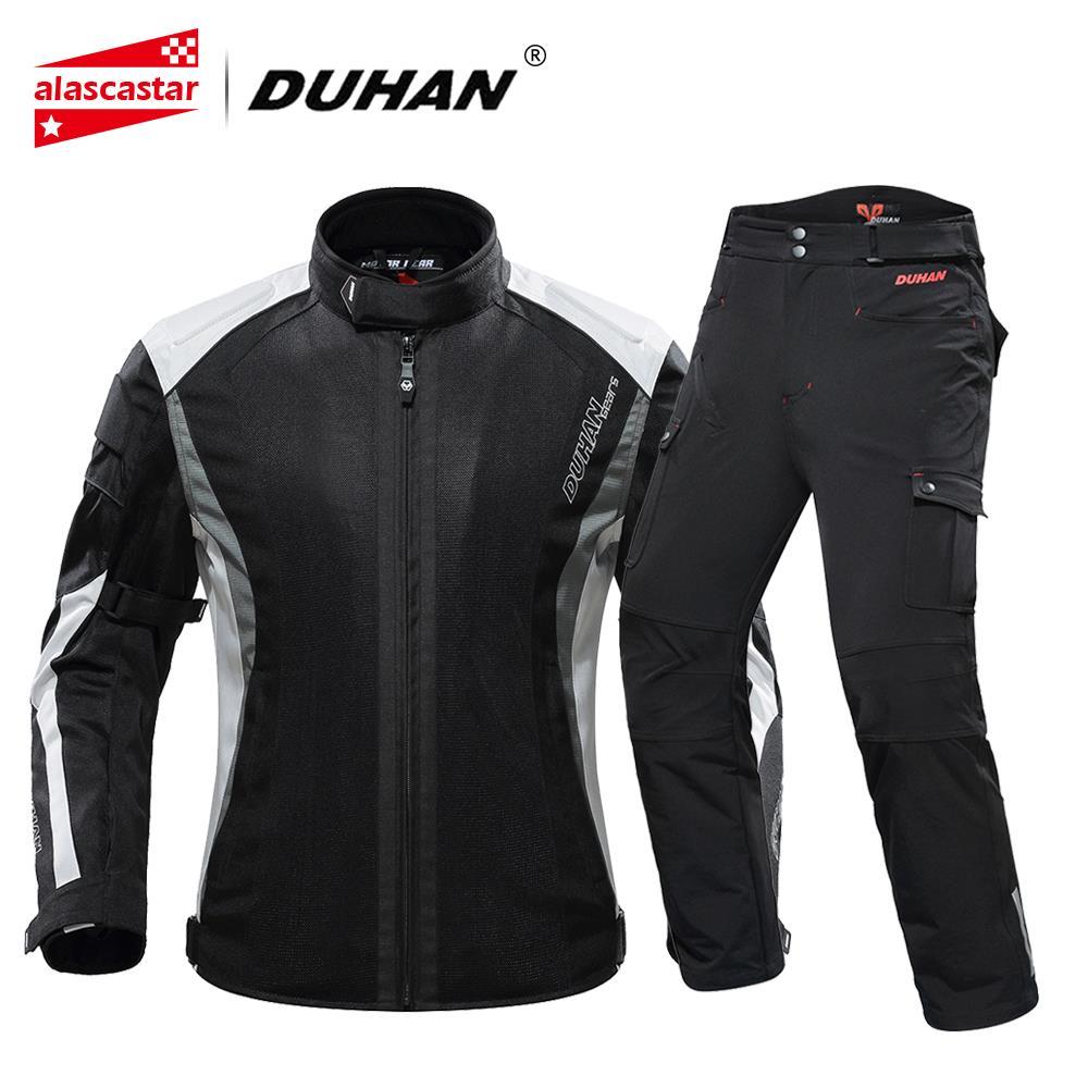 DUHAN veste de Moto hommes Moto protecteur Moto pantalon Moto costume vêtements d'équitation équipement de protection ensemble avec cinq protecteur