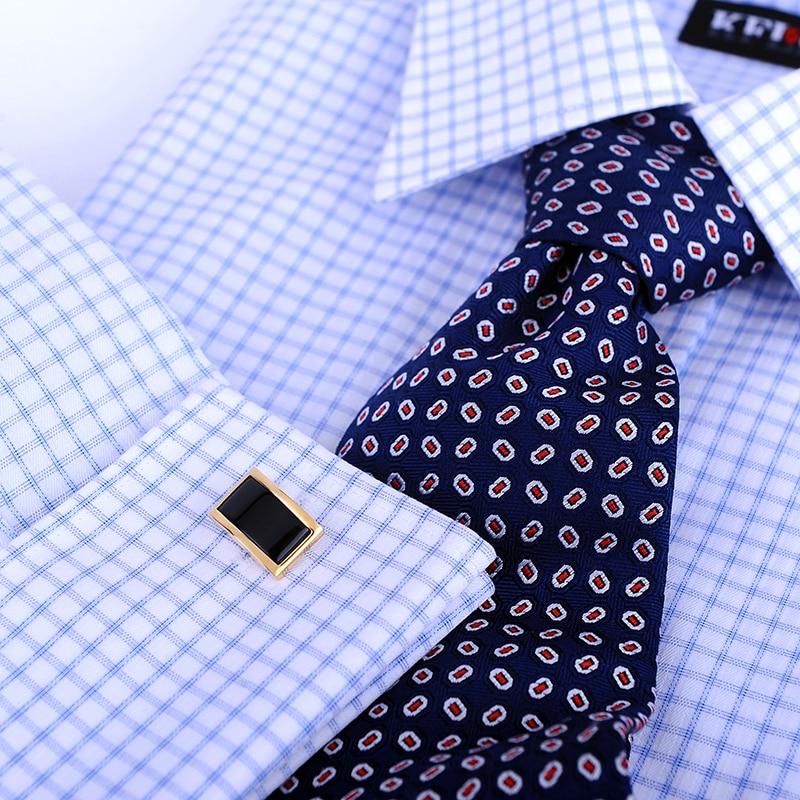 KFLK skjorta manschettknappar för män Märke Guldfärgskedja Mode - Märkessmycken - Foto 4