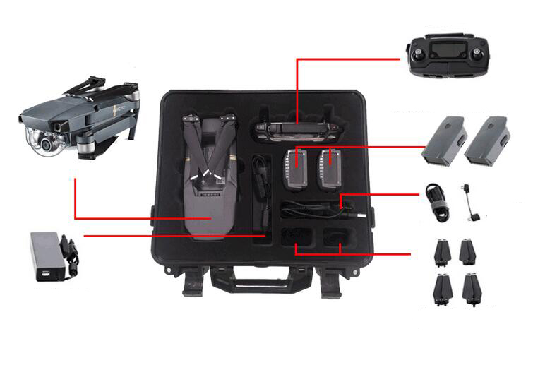 New Arrival CASE BAG SUITCASE WATERPROOF for DJI MAVIC PRO RC DRONE RC QUADCOPTER