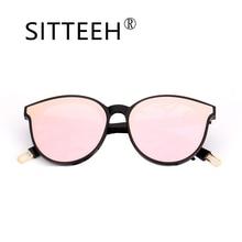 ФОТО sitteeh glasses cat eye frame summer style sunglasses for women classic mirror oculos gafas de sol feminino soleil si448