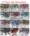 Новый 12 Цвет Акриловый Маникюр Украшения Nail Art Стразы Для УФ-Гель