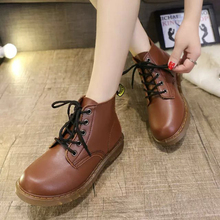 Autumn Winter Women Shoes Vintage Fashion Ankle Boots Woman Boots Flat Heel Leather Motorcycle Boots Couples Shoes zapatos mujer