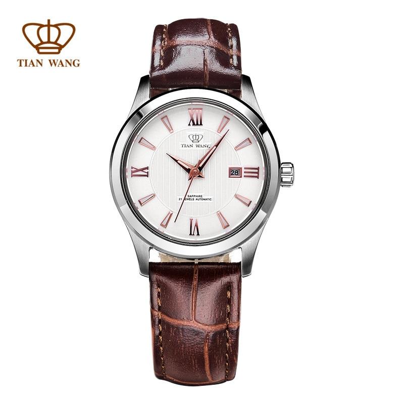 Tian Wang 2015 New fashion women's mechanical watch full 316L ss buckle free shipping 24 hour dispatch LS5750S/D