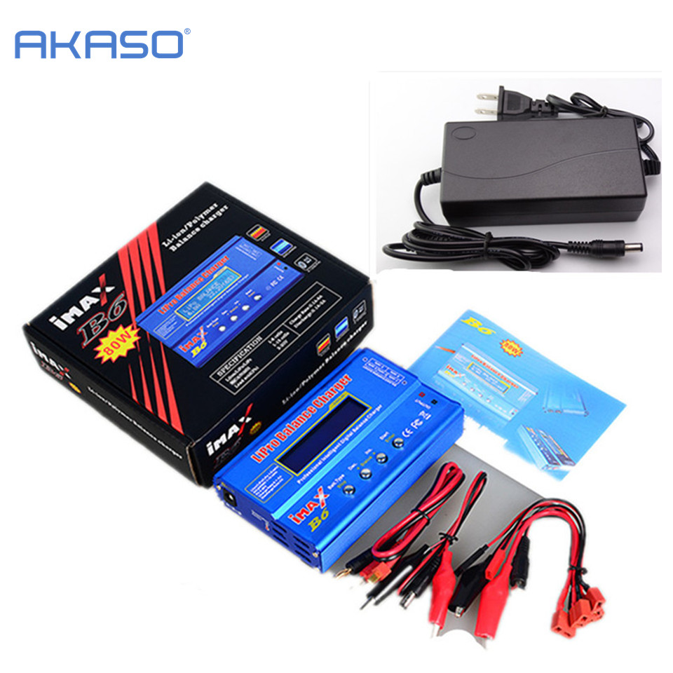 Factory Wholesale Original AKASO IMAX B6 Digital RC Lipo NiMh Battery Balance Charger With AC POWER