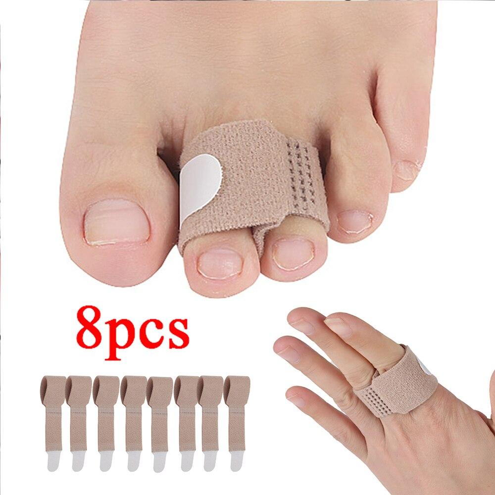 8Pcs Finger Brace Splint Support For Arthritis Injured Finger, Also Used As Toe Wraps Straightener For Hammer Broken Toe  D081