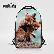 Dispalang ноутбук рюкзак для женщин мужчины лиса животных печати школьная сумка для подростков Business Notebook Рюкзак Дорожная Сумка
