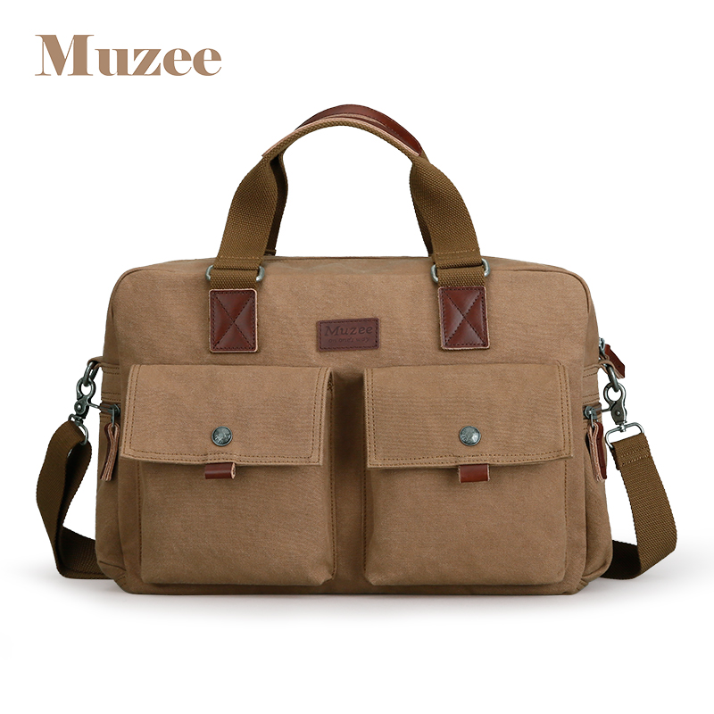 Muzee 2019 grande capacité porte-documents sac à main adapté pour 15.6 pouces ordinateur portable sac à bandoulière multifonction sac à bandoulière deux couleurs Options