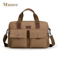 Muzee 2019 Large Capacity Briefcase Handbag Fit for 15.6 inch Laptop Crossbody Bag Multifunction Shoulder Bag Two Colors Options