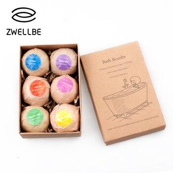 6×2.1oz Bath Bombs Gift Set Handmade Large Bath Fizzy Organic Essential Oil Bath Bomb Kit for Moisturizing Bubble & Spa Bath