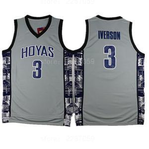 b48ecab3 ... ediwallen college 3 allen iverson jersey men black blue gray stitched