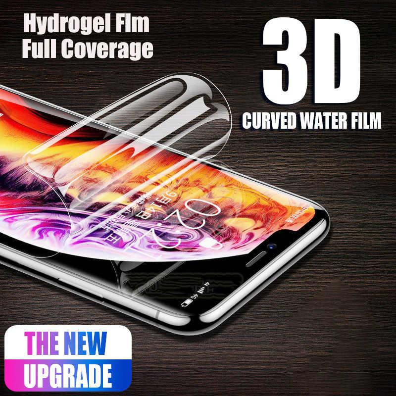واقي للشاشة لسامسونج غالاكسي S9 ملاحظة 9 8 6D كامل غطاء لينة هيدروجيل فيلم لسامسونج S10 S9 S8 S7 s6 حافة زائد لا الزجاج