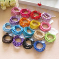 100 Pcs Colorful Child Kids Hair Holders Cute Hairband Rubber Elastics Hair Band Accessories Tie Gum For Hair Ties Headbands