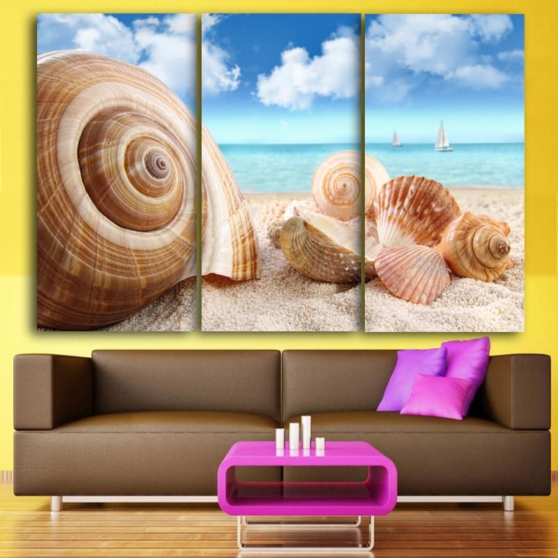Set of 3 rectangular art canvas painting oil painting for Set of three canvas paintings