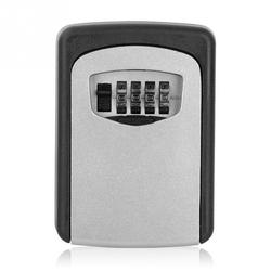 Durable Outdoor Keybox Aluminium Alloy Wall Mounted Safe Password Padlock With 4 Digit Combination Lock