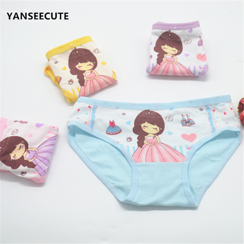 Child's Underwear Kids Girls Kids Underwear Panties For Girls 2017 New Child's Underpants Underwear Girls 12pcs/lot A2095-12P