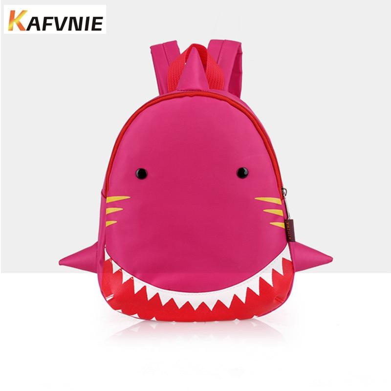 3D Kids Backpack Animal Bag for 1-3 Years Boys and Girls Toddler Shark Bag Kindergarten Children Cartoon waterproof School Bag