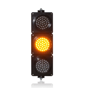 AC85-265V PC housing 100mm red yellow green LED traffic signal light school education mini traffic light sale