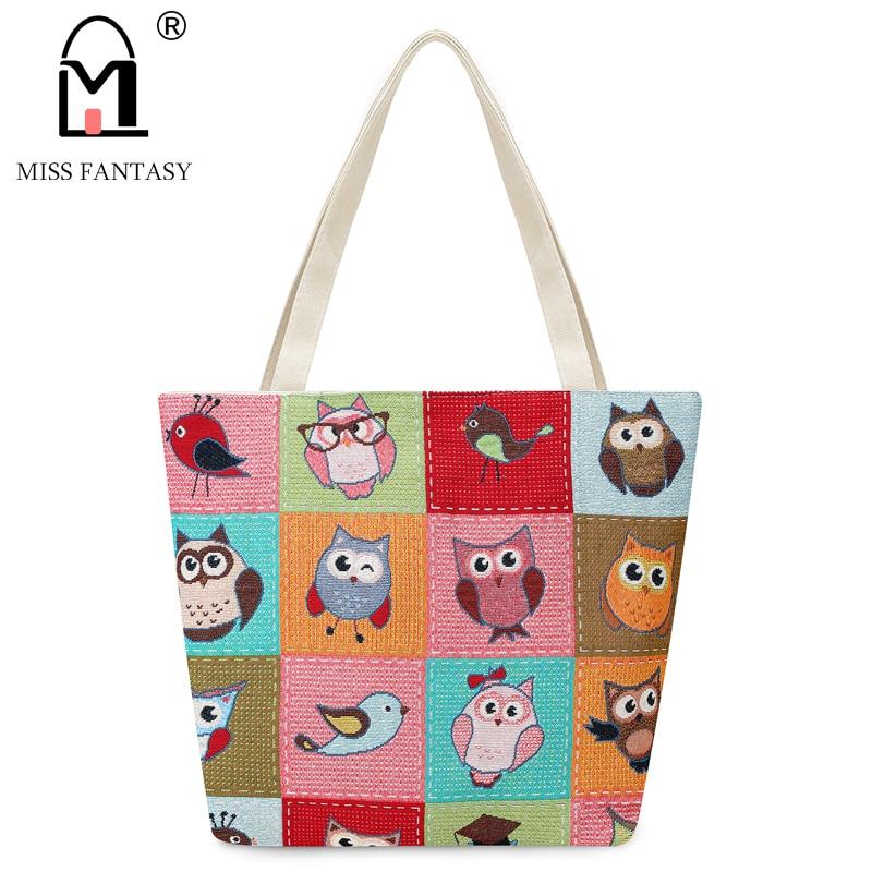 miss fantasia bordado coruja tote Decoration : Embroidery Owls,