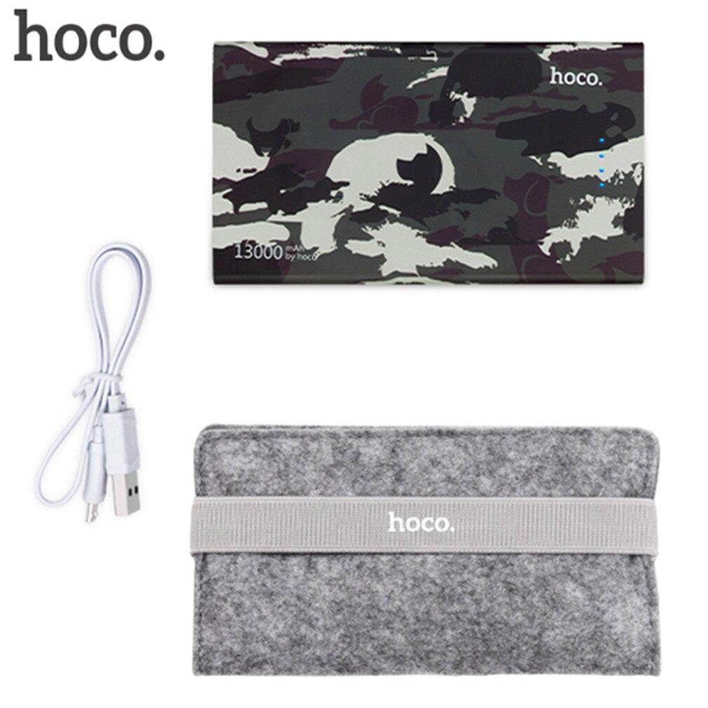 HOCO 13000 mAh Batería Grande Camuflaje Cargador Banco Portable de la Energía de
