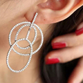 925 Sterling Silver Needle Exaggerated Earrings Fashion Female Earring Jewelry Gift For Women Stud Earrings Jewelry Accessory