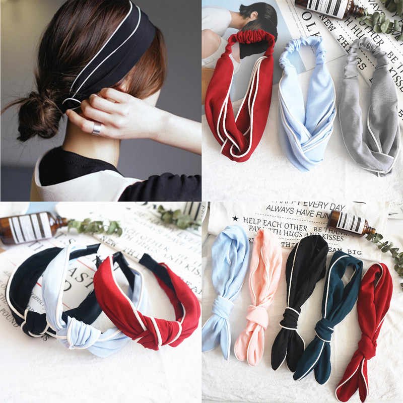 Korea  Pearl Fashion Rope headdress Flower Rubber Bands Small Adorn Article Girls pure color hair rings adorn beautiful women's