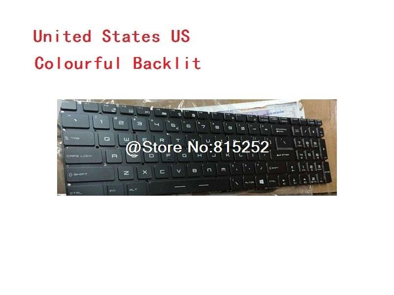 Laptop Keyboard For MSI GS63VR GS73VR GT72VR GT83VR GE72VR GP62MVR GE62VR GL62 WS60 Spain SP United States US United Kingdom UK laptop keyboard for clevo w270hnq w270hpq w270hsq w270huq w271czq w350hu w350hv w350st united states us spain sp germany gr