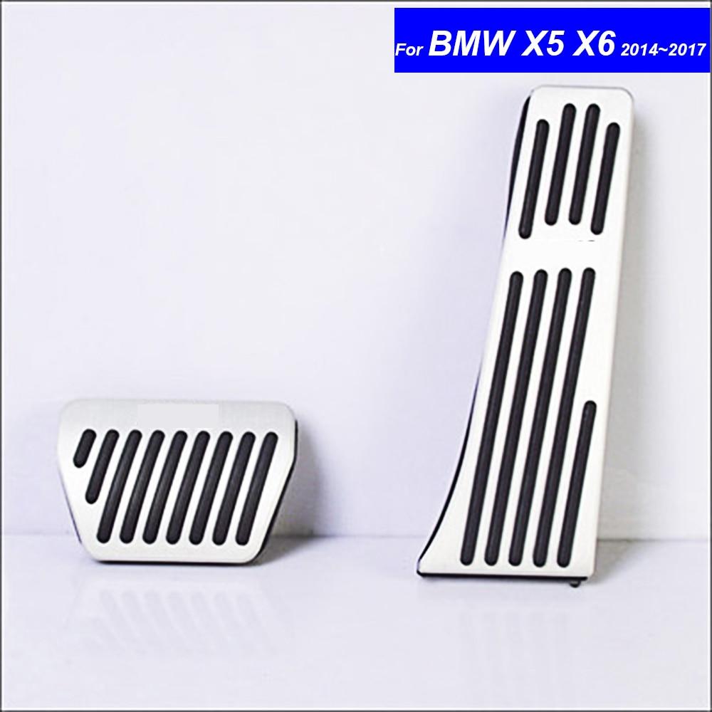 Car Petrol Clutch Fuel Brake Braking Pad Foot Pedals Rest Plate for BMW X5 X6 2007 2008 2009 2010 2011 ~ 2015 2016 2017 Pedals