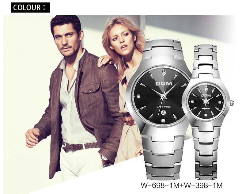 Hk dom luksusowe top marka męska zegarek wolframu stal wrist watch wodoodporna biznesu kwarcowy zegarek fashion casual sport watch 2