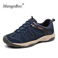 2016 כחול ציד טיולים גברים נעלי מגפי סתיו/חורף נעלי טיפוס נעלי עור נעלי ספורט הליכה מגפי טרקים נסיעות חום