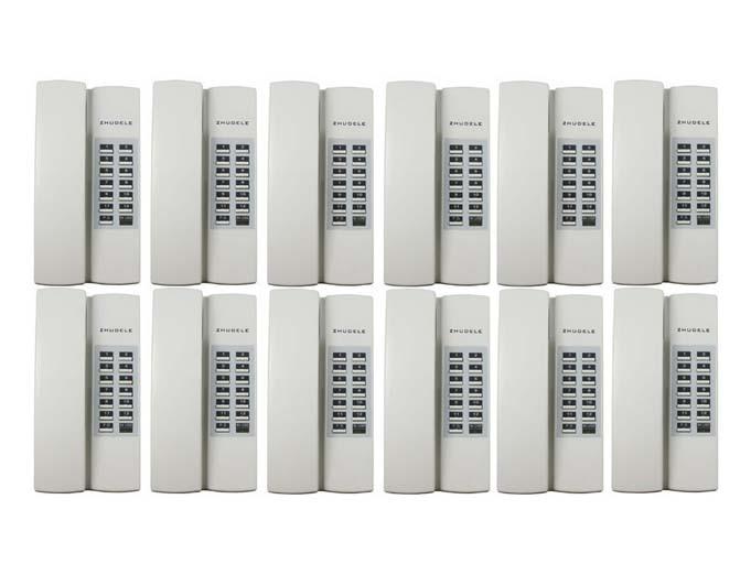 optional 12-way Audio-gegensprechanlage Entsperren Zhudele Zdl-12ac Safe & Gemütliches Zuhause Sprech QualitäTswaren