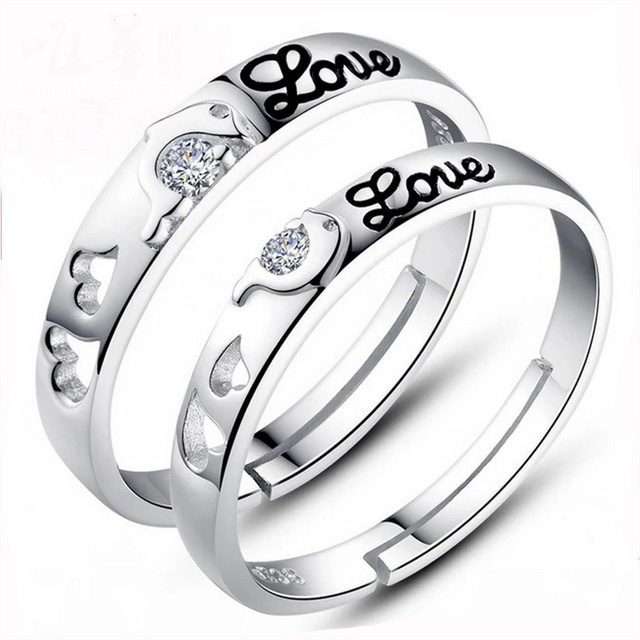 2017 2pcs/set New Men And Women To Tie The Knot Dolphin Silver Plated Couple
