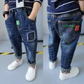 2017 spring children's clothes solid denim thin baby boys jeans for big kids boys causal jeans long trousers