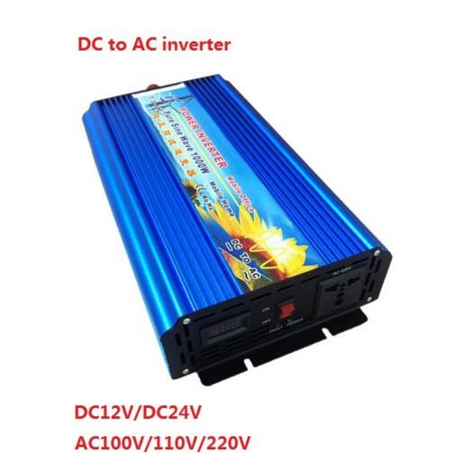 peak power 2000W dc12v/24V to ac110V/220v rated power 1000W 1KW off grid digital display pure sine wave inverter 2000w dc12v 24v ac110v 220v off grid pure sine wave single phase power inverter with charger function surge power 3000w