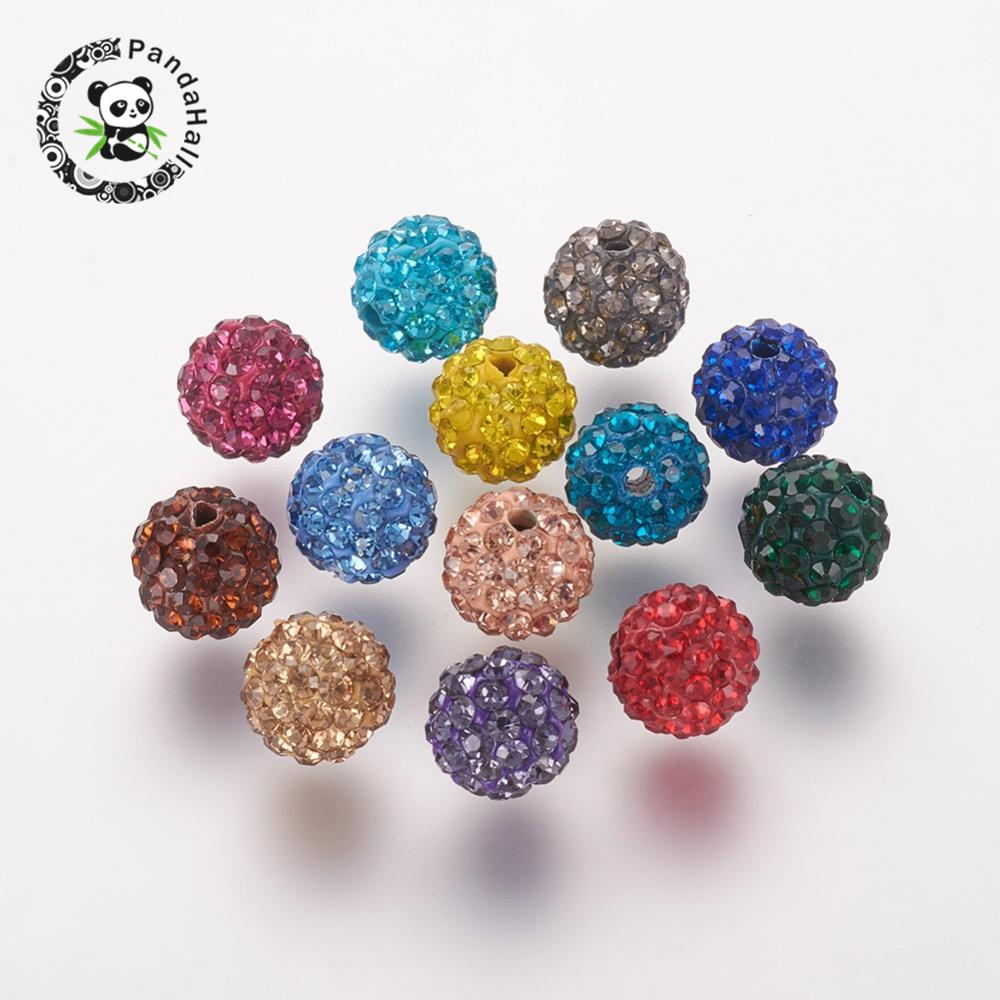 10 Strass Ronds environ 6 mm argent couleurs