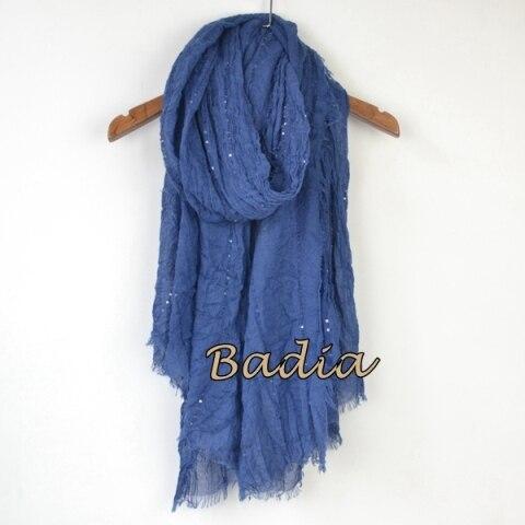 Однотонный Простой Большой рекламный женский шарф, блестящий Блестящий шарф, шаль, большой летний шарф - Цвет: navy