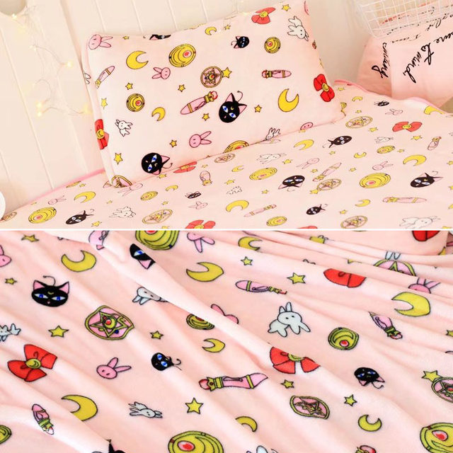 Online Shop Sailor Moon Usagi Tsukino Luna Bedding Set Futon Cover Fascinating Futon Cover Set With Pillows